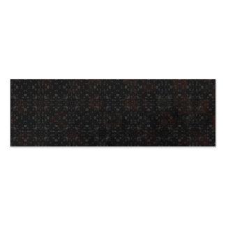 Arrière - plan noir de briques modèles de cartes de visite