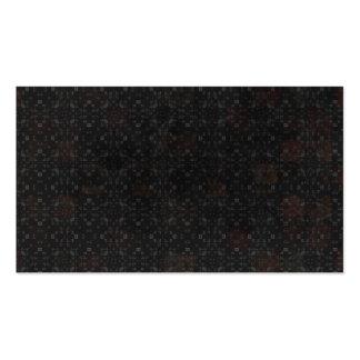 Arrière - plan noir de briques carte de visite standard