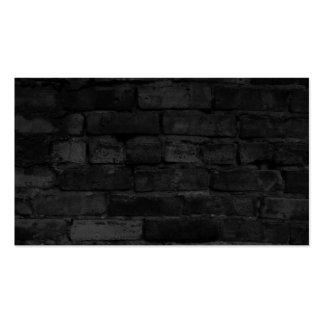 Arrière - plan noir de mur de briques carte de visite standard