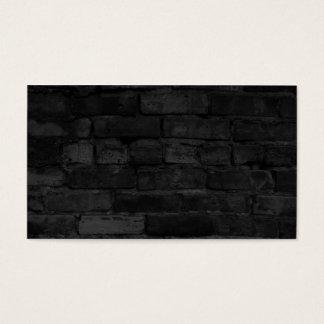 Arrière - plan noir de mur de briques cartes de visite