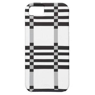 arrière - plan noir et argenté de motif de coque iPhone 5