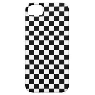 Arrière - plan noir et blanc de damier coque Case-Mate iPhone 5