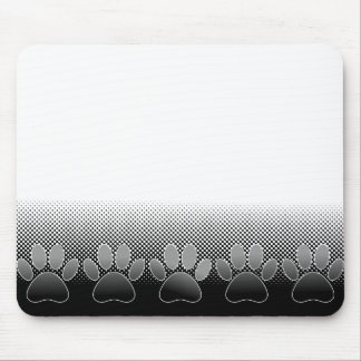 Arrière - plan noir et blanc de gradient de pattes tapis de souris