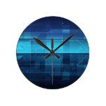 Arrière - plan numérique de pointe horloge ronde