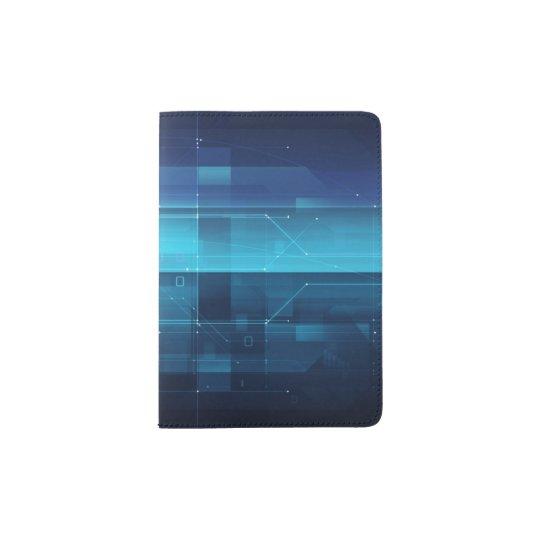 Arrière - plan numérique de pointe protège-passeport