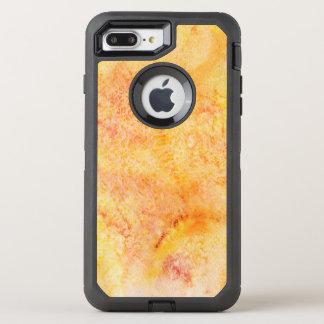 Arrière - plan orange d'aquarelle coque otterbox defender pour iPhone 7 plus