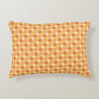 Arrière - plan orange ensoleillé rétro coussins décoratifs