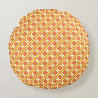 Arrière - plan orange ensoleillé rétro coussins ronds