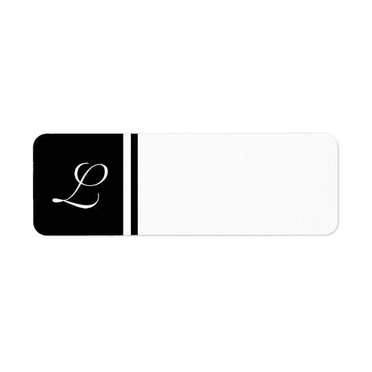 Arrière - plan personnalisable de label initial bl étiquette d'adresse retour