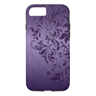 Arrière - plan pourpre avec la dentelle florale coque iPhone 7