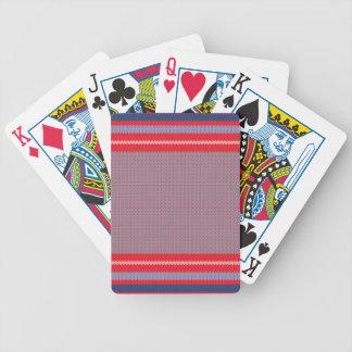 Arrière - plan rayé 2 de tricot jeu de poker