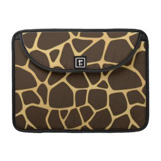 Arrière - plan repéré par girafe poches pour macbook pro