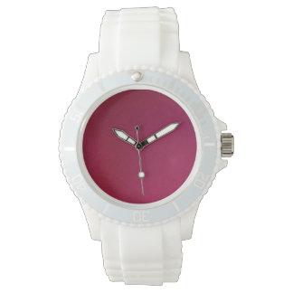 Arrière - plan rose montres bracelet