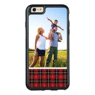 Arrière - plan rouge de plaid de photo faite sur coque OtterBox iPhone 6 et 6s plus