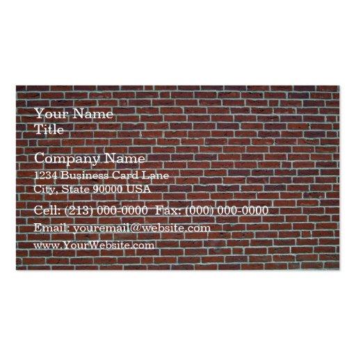 Arrière - plan rouge foncé moderne de mur de briqu carte de visite