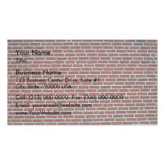 Arrière - plan rouge foncé moderne de mur de briqu carte de visite standard