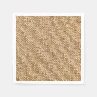 Arrière - plan rustique de toile de jute imprimé serviettes en papier