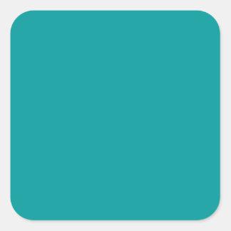 Arrière - plan solide de couleur de la turquoise sticker carré