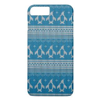 Arrière - plan tricoté par bleu coque iPhone 7 plus