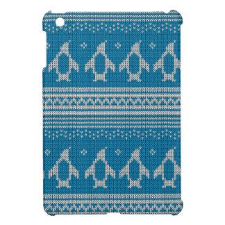 Arrière - plan tricoté par bleu étui iPad mini