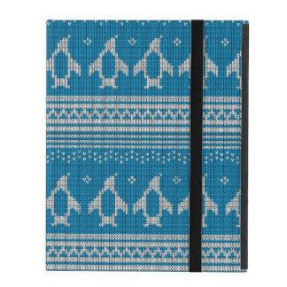 Arrière - plan tricoté par bleu étuis iPad
