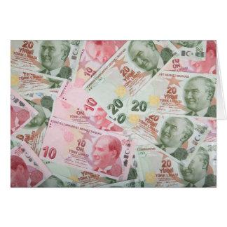 Arrière - plan turc d'argent carte de vœux