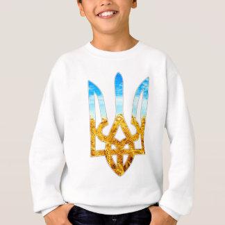 Arrière - plan ukrainien de tryzub de blé et de sweatshirt