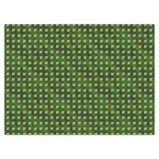Arrière - plan vert avec de l'Gold Fleur de Lis Papier Mousseline
