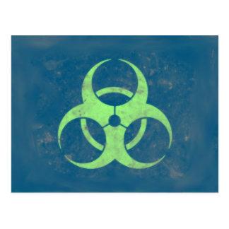 Arrière - plan vert-bleu de chaux de Biohazard Cartes Postales