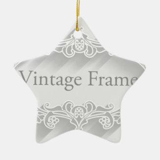 Arrière - plan vintage de cadre ornement étoile en céramique