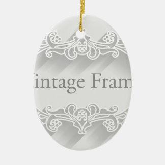 Arrière - plan vintage de cadre ornement ovale en céramique