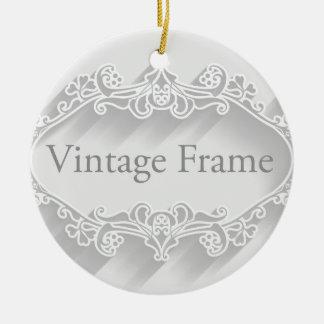 Arrière - plan vintage de cadre ornement rond en céramique