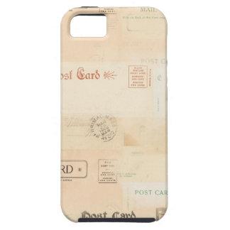 arrière - plan vintage de collage de carte postale coques iPhone 5 Case-Mate