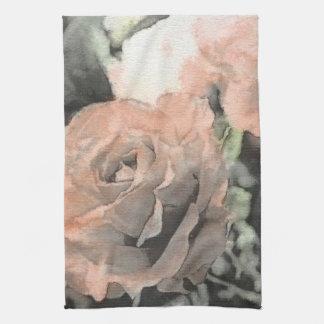 arrière - plan vintage floral d'art avec rose-clai serviettes éponge