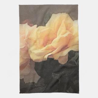 arrière - plan vintage floral d'art dans des coule serviette éponge