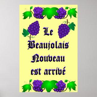 Arrivé d'est de Le Beaujolais Nouveau Posters
