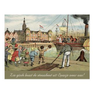Arrivée de cru néerlandais de St Nick de Carte Postale
