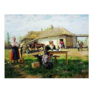 Arrivée de Vladimir Makovsky- d'une maîtresse Carte Postale