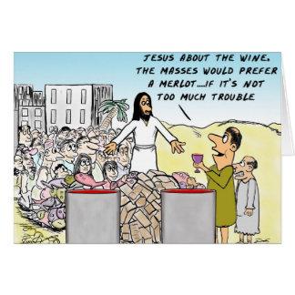 Arrosez dans le vin carte de vœux