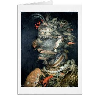 Arrosez, (huile sur la toile), Arcimboldo, Giusepp Carte De Vœux