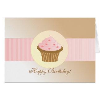 Arrosez le petit gâteau carte de vœux
