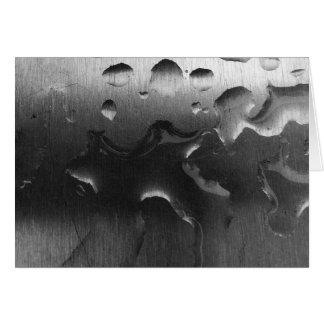Arrosez sur l'acier Brushed - Noir, carte