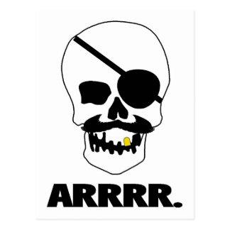 ARRRR ! Crâne de pirate Carte Postale