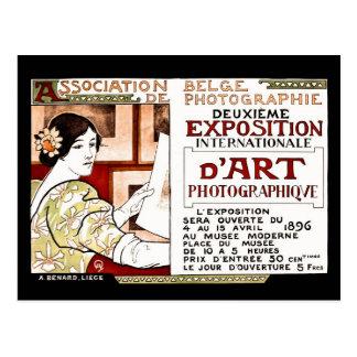 Art 1896 belge de photographes de nouveau d'art de carte postale