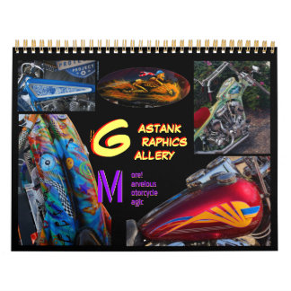 Art 2014 de peinture de moto de graphiques de calendriers muraux