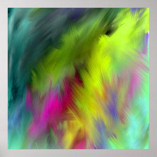 art Ab44 abstrait vif intérieur Poster