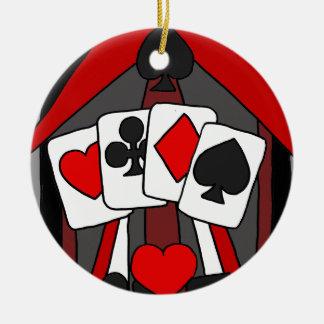 Art abstrait artistique de cartes de jeu ornement rond en céramique