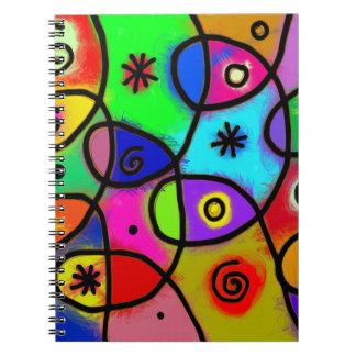 Art abstrait coloré et d'amusement sur le carnet