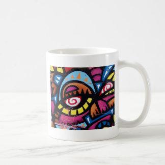 Art abstrait coloré mug blanc