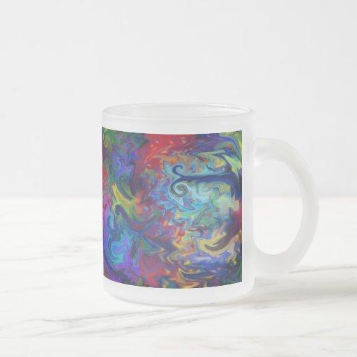 Art abstrait coloré mug